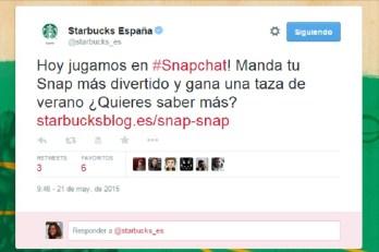Starbucks concurso snapchat