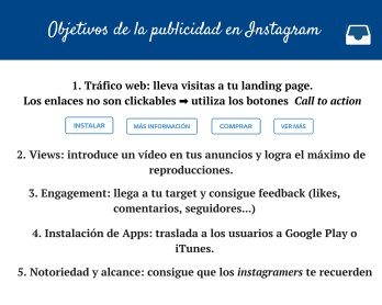 Objetivos de la publicidad en Instagram