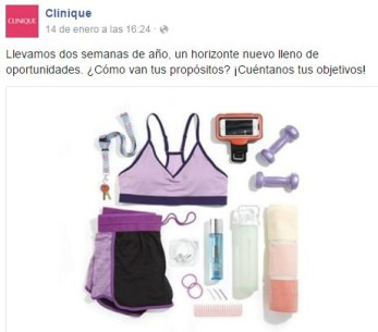 Clinique en Facebook