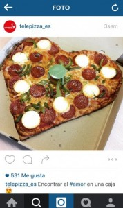Telepizza San Valentín Instagram